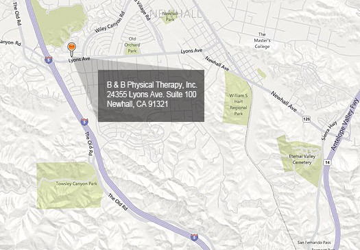 B & B Physical Therapy, 24355 Lyon Ave. Suite 100 Newhall, CA